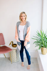 Reflections Pocketed Colorblock Cardigan