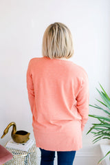 The Ivey Basic Sweater - Carrot