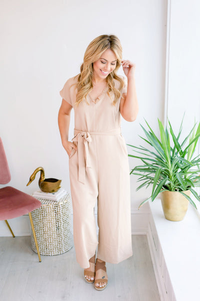 The Chelesta Tie Jumpsuit