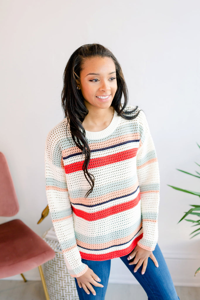 North Beach Striped Sweater
