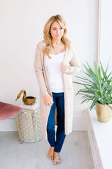 Take My Hand Open Cardigan - Oatmeal