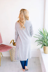 Before Dawn Open Cardigan - Grey