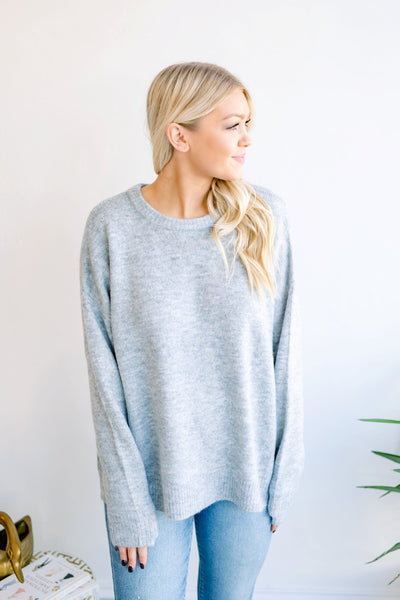 Melanie Crewneck Sweater - Heather Grey