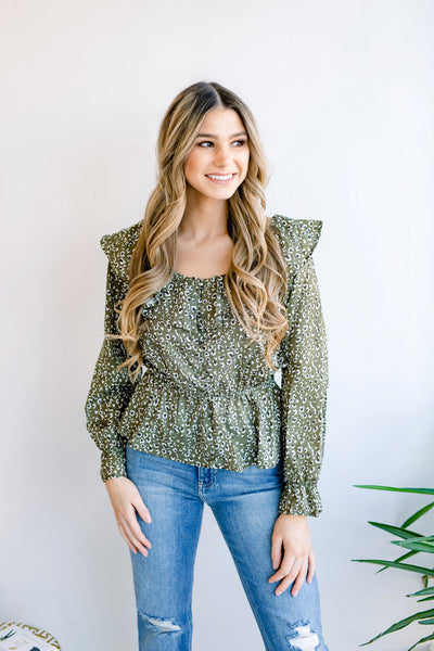 More the Merrier Leopard Print Blouse