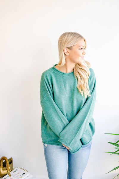 Holly Berry Wide Neck Long Sleeve Sweater