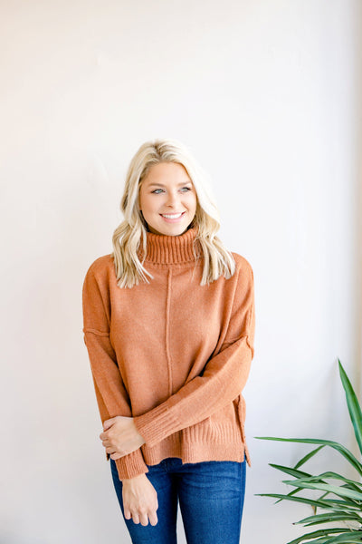 Enjoy Your Company Turtleneck Sweater - Camel