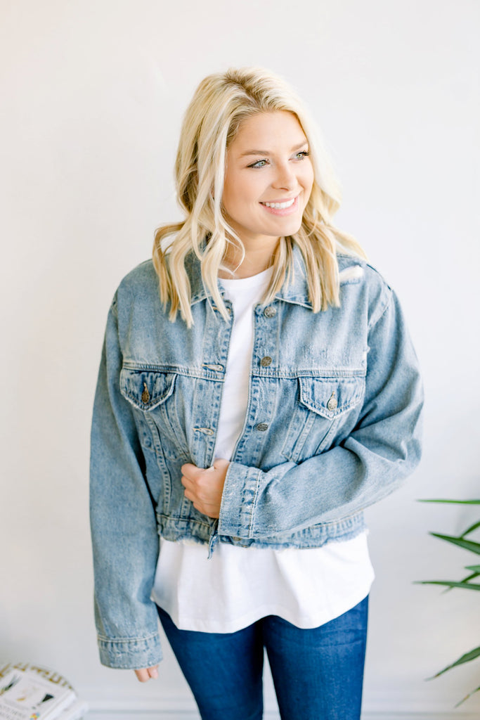 Wearing it Around Denim Jacket