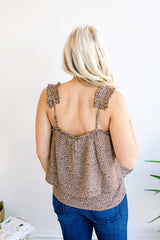 Wild About Spring Pleated Tank