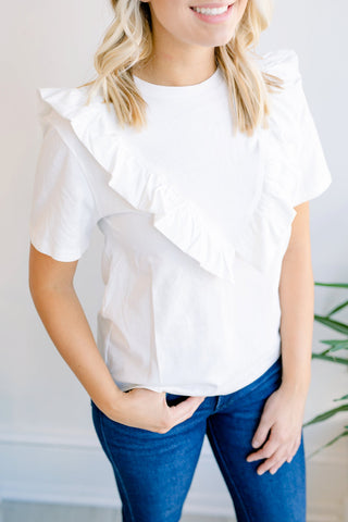Spring Ahead Ruffle Top
