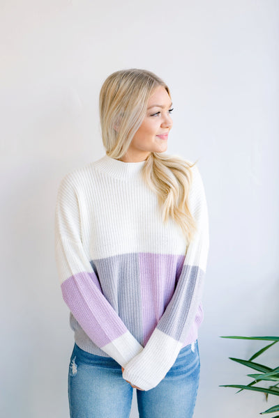 Alicia Colorblock Knit Sweater