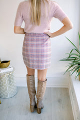 Something to Smile About Plaid Skirt