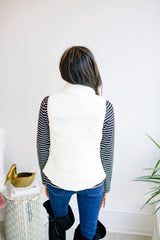 All Winter Long Puff Vest - Ivory