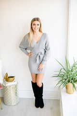 Sincerely Yours Wrap Sweater Dress
