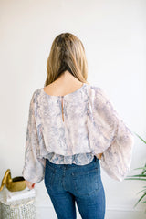 Sassier Than Ever Snake Print Top