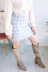 Winter Wonderland Tweed Gingham Skirt