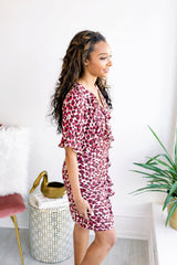 Erin on Trend Leopard Ruffle Dress