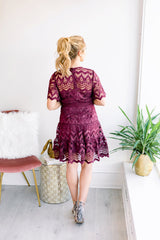 Rooting for You Lace Midi Dress