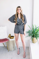 Let the Night Shine on Twist Romper