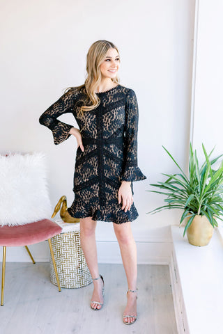 Adrena Holiday Party Lace Dress