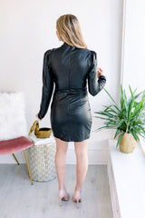 Back in Black Leather Dress