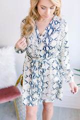 Mile a Minute Snakeskin Dress