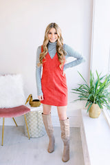 Thanksgiving Day Sleeveless Suede Dress