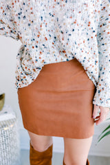 Let's Go Out Snakeskin Skirt