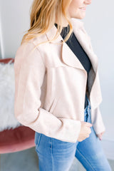 Notched Collar Jacket - Beige