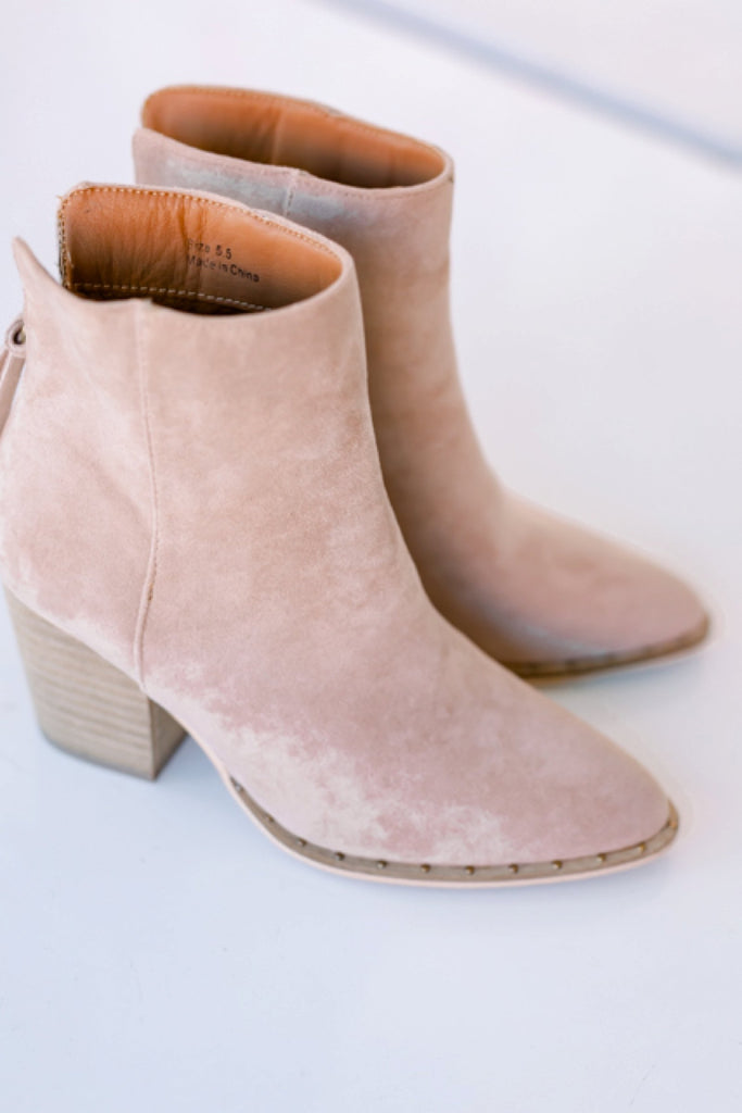 World Awaits Booties - Taupe