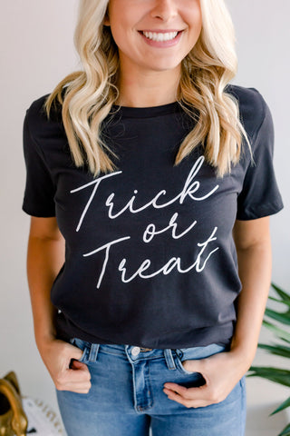 Trick or Treat Tee - Charcoal