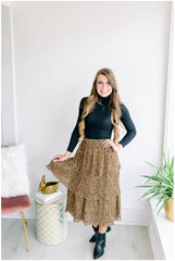 Country Club Tiered Leopard Skirt
