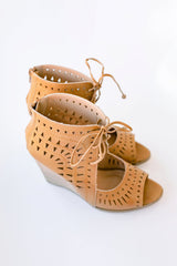Audrey Laser Cut Wedges
