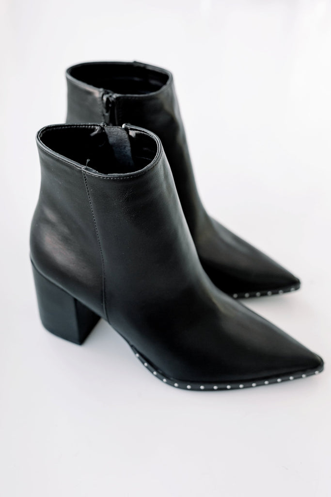 Paige Studded Pointed Toe Boots