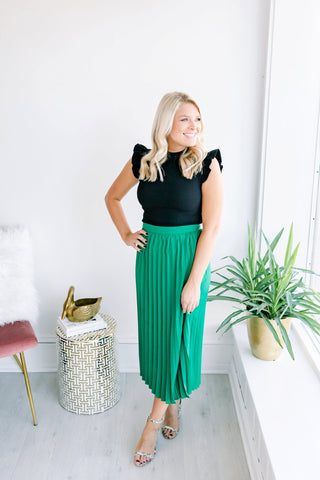 High Note Pleated Skirt