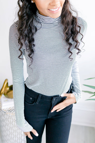 Molly Striped Turtleneck