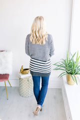 Stripes on Stripes Open Cardigan