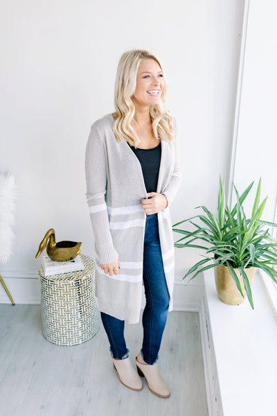 Charmer Ribbed Stripe Cardigan