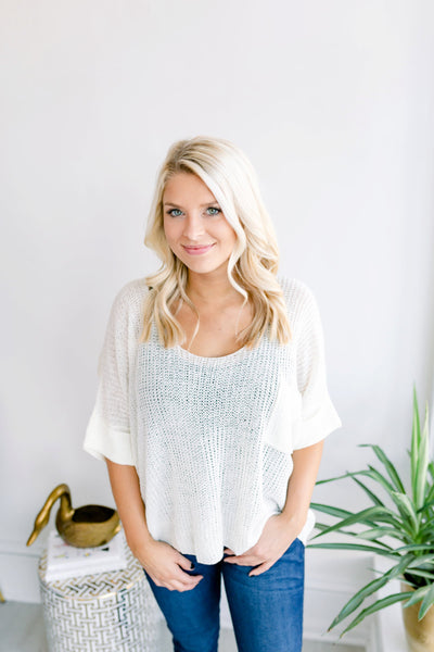 Cafe All Day Lightweight Sweater - Ivory