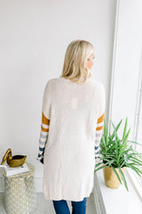 In the Woods Striped Sleeve Cardigan