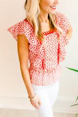 Sweet Talk Eyelet Peplum Blouse