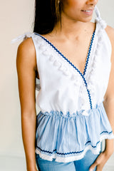 Josie Setting Sun Tassel Top