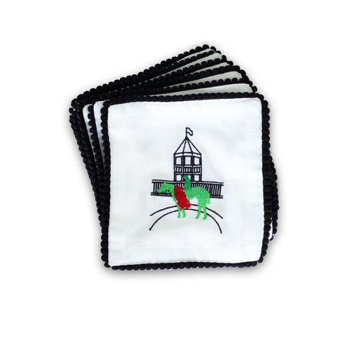 Embroidered Cocktail Napkins - Derby Winner
