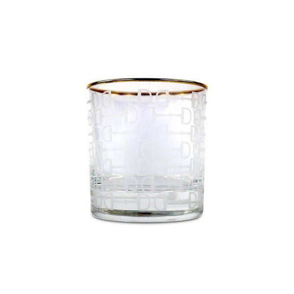 Frosted Pony Club Bourbon Glass