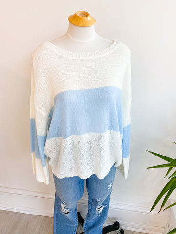 Sophie Stripe Sweater - Blue