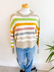 Rainbow Multi Skies Striped Sweater