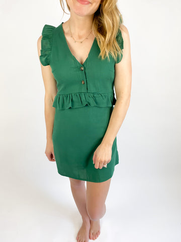 Adelle V Neck Button Dress