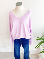 The Ivey Basic Sweater - Orchid