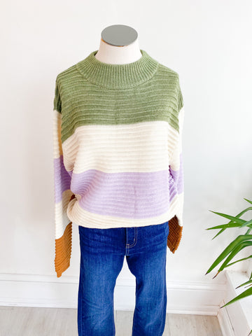 Mint Chocolate Striped Sweater