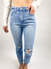 Rory High Rise Destroyed Jeans - Light Denim