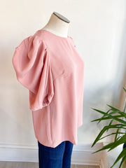 Getting Better Pleated Puff Sleeve Top